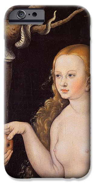 Eve Offering The Apple To Adam In The Garden Of Eden And The Serpent IPhone 6s Case by Cranach