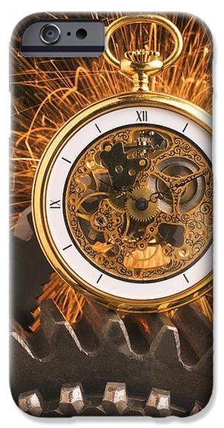 Fancy Pocketwatch On Gears IPhone Case by Garry Gay
