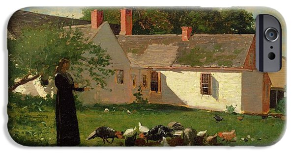 Farmyard Scene IPhone 6s Case by Winslow Homer