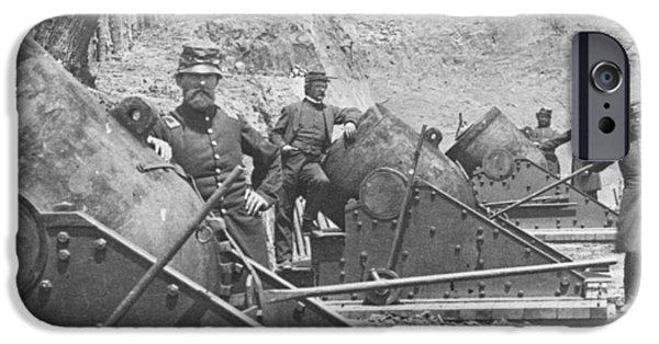 Federal Siege Guns Yorktown Virginia During The American Civil War IPhone Case by Mathew Brady