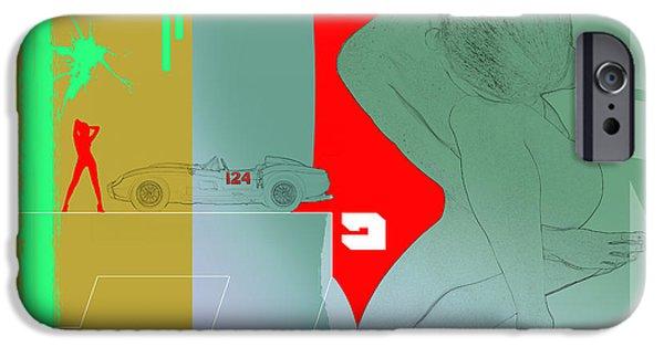 Ferrari And A Girl IPhone Case by Naxart Studio