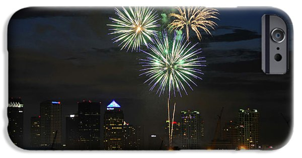 Fireworks Of Tampa IPhone Case by David Lee Thompson