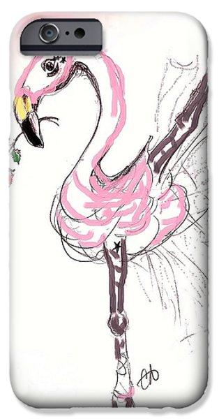 Flamenco Flamingo IPhone Case by Carol Allen Anfinsen
