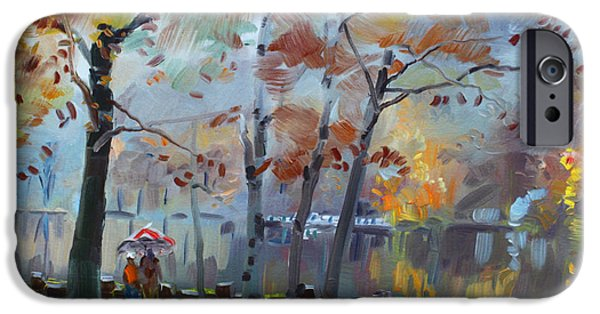 Foggy Rain By The Lake IPhone Case by Ylli Haruni