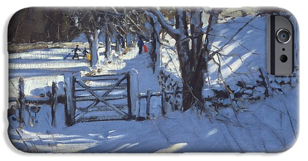 Gate Near Youlgreave Derbyshire IPhone Case by Andrew Macara