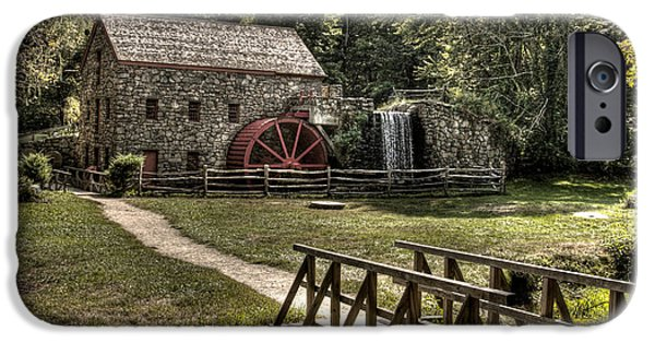 Grist Mill Sudbury Massachusetts IPhone Case by Mark Valentine