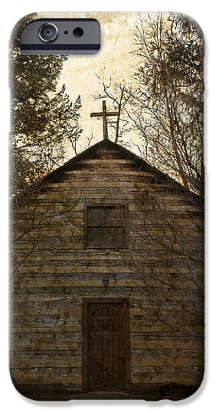 Grungy Hand Hewn Log Chapel IPhone 6s Case by John Stephens