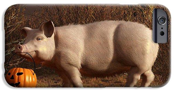 Halloween Pig IPhone 6s Case by Daniel Eskridge