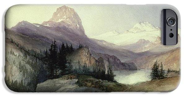In The Bighorn Mountains IPhone Case by Thomas Moran