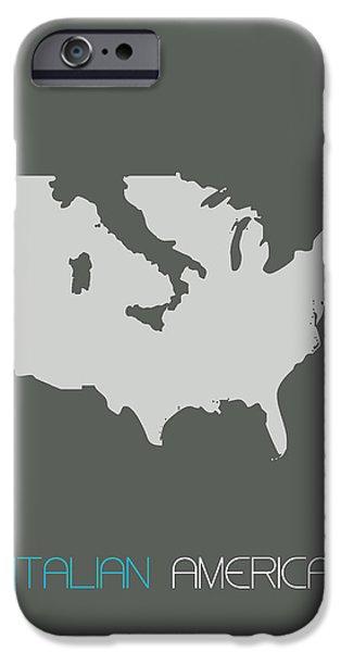 Italian America Poster IPhone Case by Naxart Studio