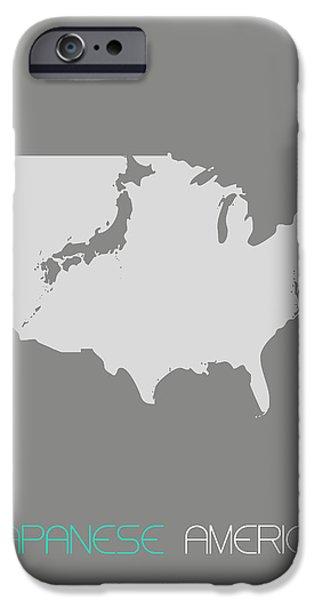 Japanese America IPhone Case by Naxart Studio