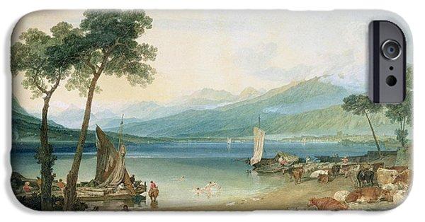 Lake Geneva And Mont Blanc IPhone Case by Joseph Mallord William Turner