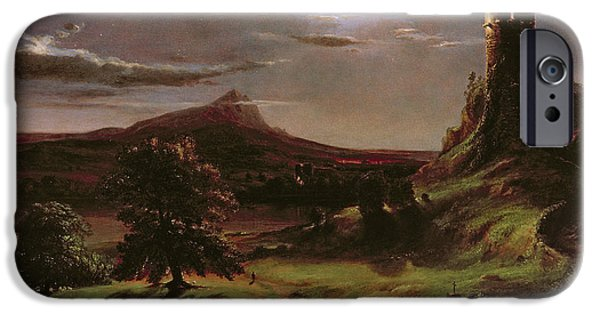 Landscape - Moonlight IPhone Case by Thomas Cole