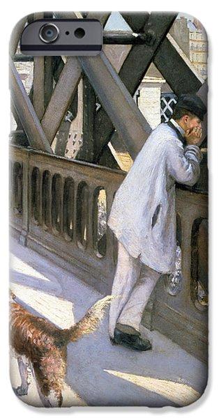 Le Pont De L'europe IPhone Case by Gustave Caillebotte