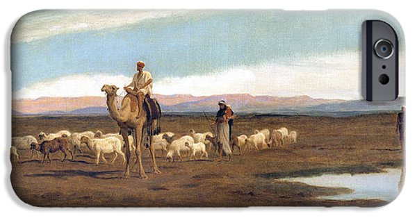 Leading The Flock To Pasture IPhone Case by Frederick Goodall