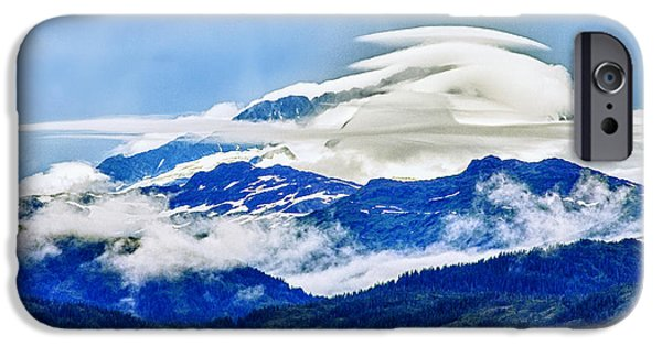 Lenticular And The Chugach Mountains IPhone Case by Rick Berk