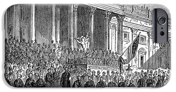 Lincolns Inauguration, 1861 IPhone Case by Granger