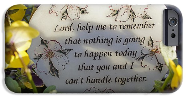 Lord Help Me To Remember IPhone Case by Mick Anderson
