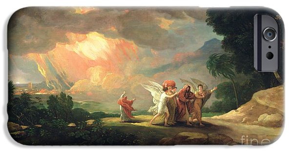 Lot Fleeing From Sodom IPhone Case by Benjamin West