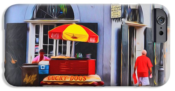 Lucky Dogs - Bourbon Street IPhone Case by Bill Cannon