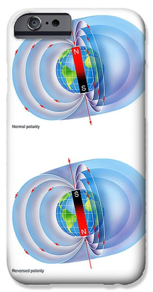 Magnetic Field Reversal IPhone Case by Gary Hincks