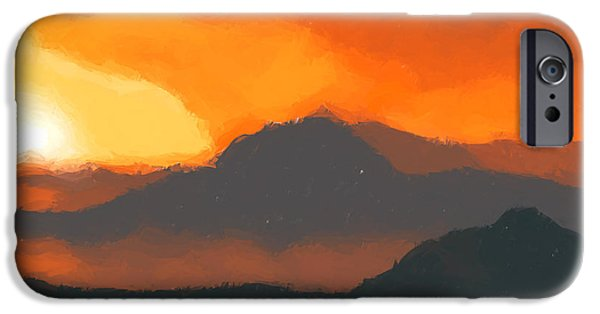 Mountain Sunset IPhone Case by Pixel  Chimp