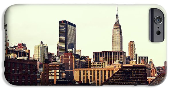 New York City Rooftops And The Empire State Building IPhone Case by Vivienne Gucwa