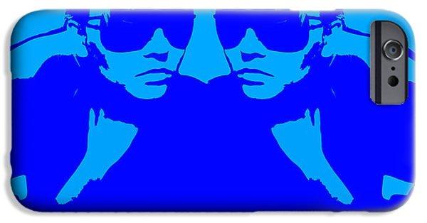 Niki Mirror Blue IPhone Case by Naxart Studio