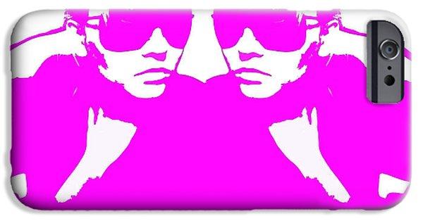 Niki Mirror Pink IPhone Case by Naxart Studio