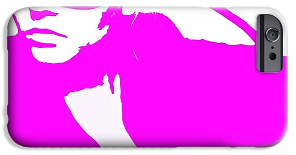 Niki Pink IPhone Case by Naxart Studio