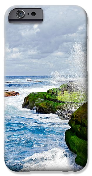 Ocean Wave Breaks On La Jolla California's Pacific Coast IPhone Case by Susan McKenzie