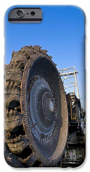 Oil Sands Bucketwheel IPhone Case by David Nunuk