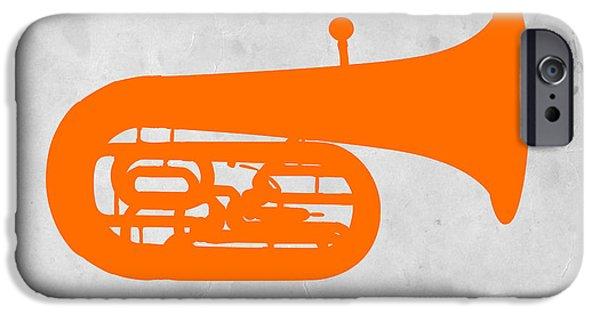 Orange Tuba IPhone Case by Naxart Studio