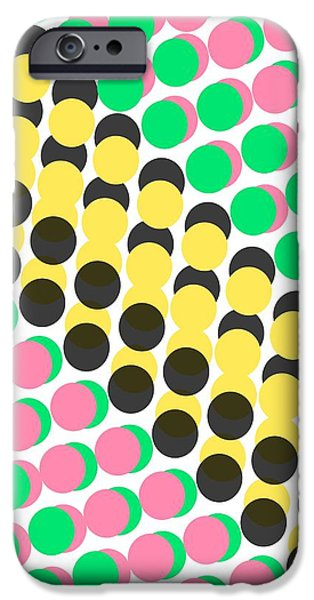 Overlayed Dots IPhone 6s Case by Louisa Knight