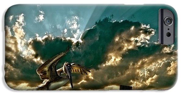 Pelican Sky IPhone Case by Meirion Matthias