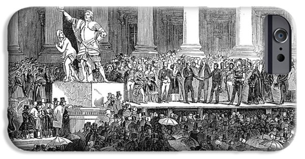 Polk Inauguration, 1845 IPhone Case by Granger