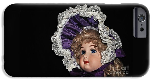 Porcelain Doll - Head And Bonnet IPhone Case by Kaye Menner