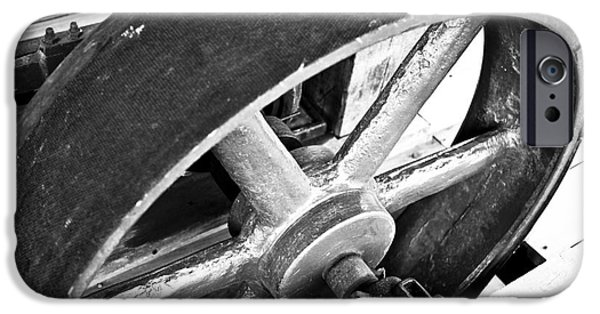 Pulley Wheel From Industrial Sawmill IPhone Case by Paul Velgos