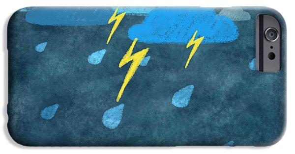 Rainy Day With Storm And Thunder IPhone Case by Setsiri Silapasuwanchai