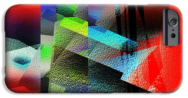 Red Abstract 1 IPhone Case by Anil Nene