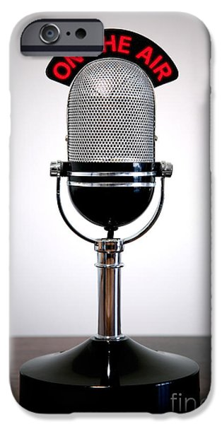 Retro Microphone  IPhone Case by Richard Thomas