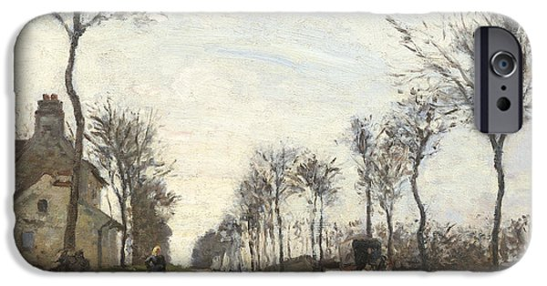 Road In Louveciennes IPhone Case by Camille Pissarro
