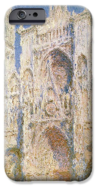 Rouen Cathedral IPhone Case by Claude Monet