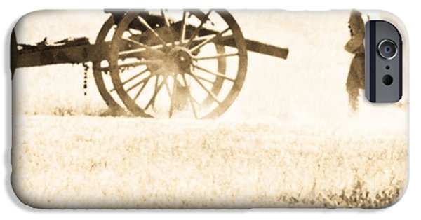 Running With The Cannon IPhone Case by Kim Henderson
