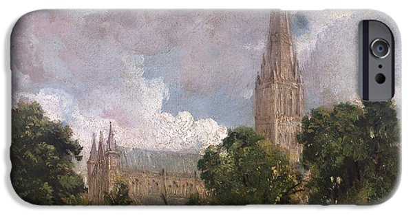 Salisbury Cathedral From The South West IPhone Case by John Constable