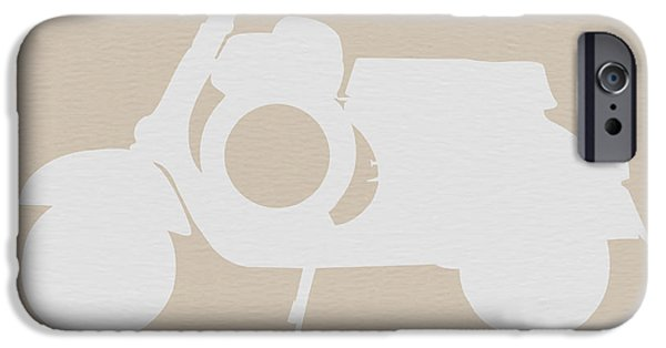Scooter Brown Poster IPhone Case by Naxart Studio