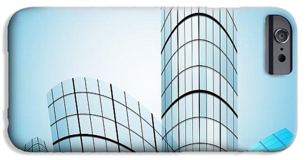 Skyscrapers In The City IPhone Case by Setsiri Silapasuwanchai
