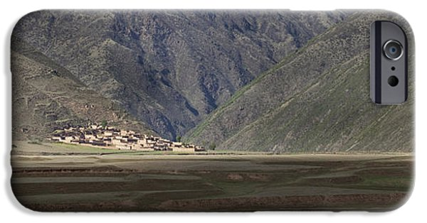 Small Village In A Mountain Valley IPhone Case by Phil Borges