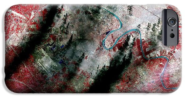 Smoke Plumes Over Baghdad, Iraq IPhone 6s Case by NASA / Science Source