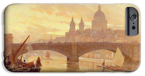 Southwark Bridge IPhone Case by Herbert Menzies Marshall